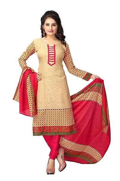 Vaamsi Women's Synthetic Dress Material Dress Material at amazon