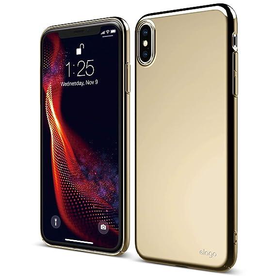 Elago Slim Fit Series Iphone Xs Max Case Metallic Gold Glossy Finishsupport Wireless Chargingfull Coveredscratch Minor Drop