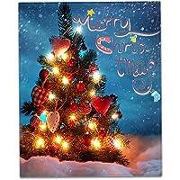 "EAOHSOAE Custom Christmas Tree Super Soft Bed Throw Blanket 58""x80"""