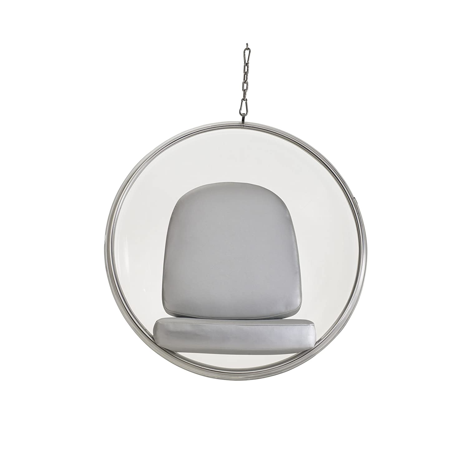 Amazon Modway Eero Aarnio Style Bubble Chair With Silver