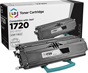 LD Remanufactured Toner Cartridge Replacement for Dell Color Laser 1720 310-8707 GR332 (Black)