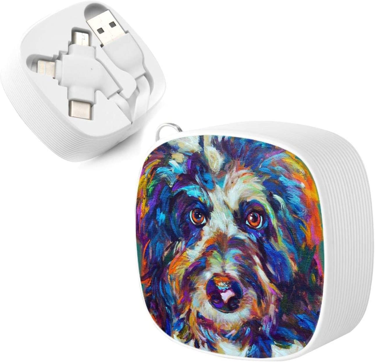 Multi Charging Cable Portable 3 in 1 Max The Aussiedoodle Throw Pillow USB Power Cords for Cell Phone Tablets and More Devices Charging