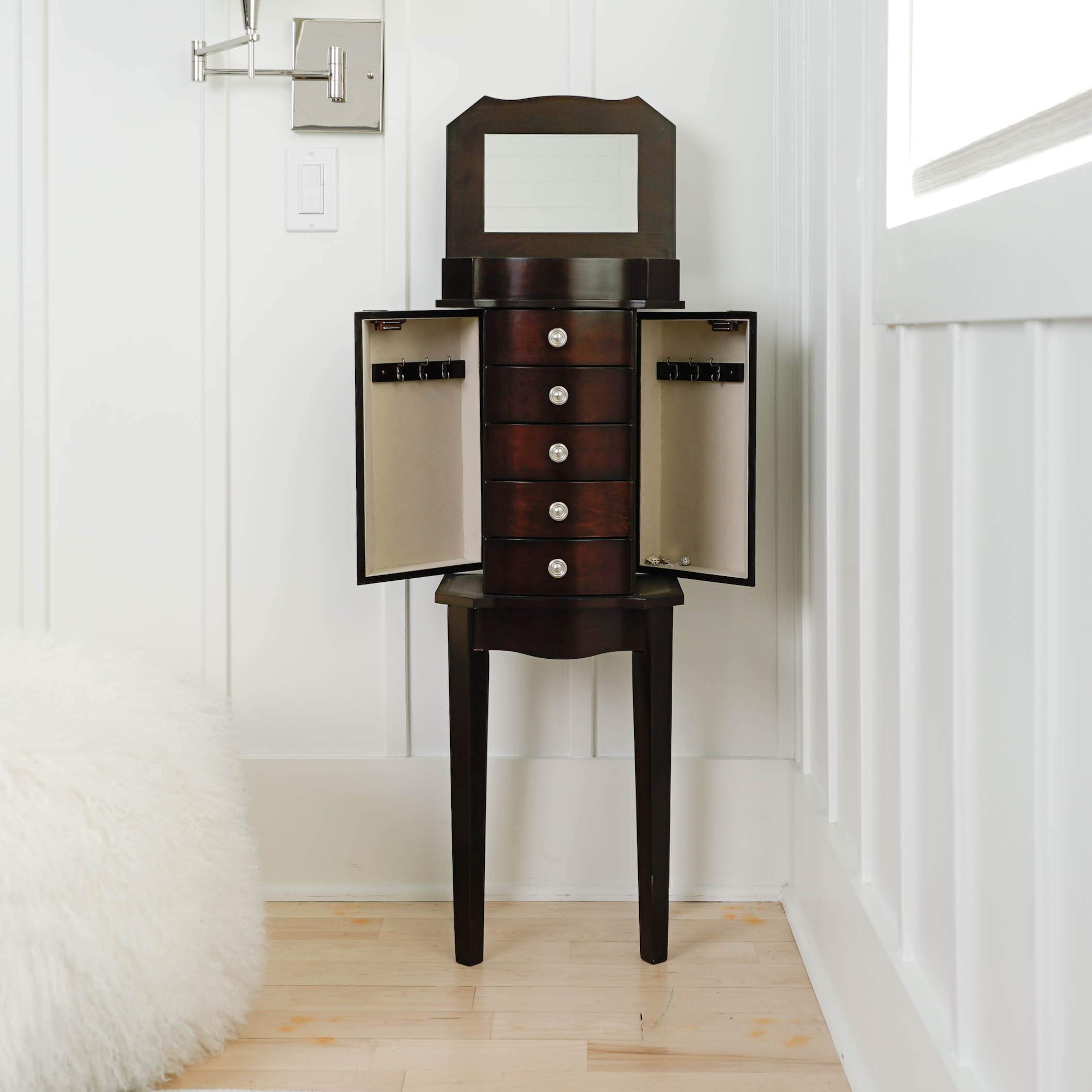 Hives & Honey Meg Espresso Jewelry Armoire by Hives and Honey (Image #2)