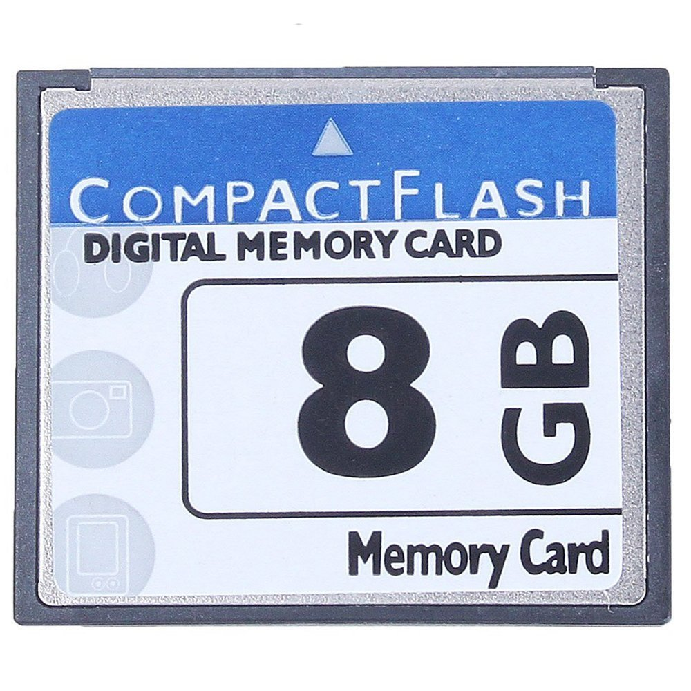 SODIAL(R) Professional 8GB Compact Flash Memory Card(White&Blue) 093223A2