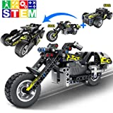 STEM Building Kit with Pull Back Toy, Cool Motorcycle Model Kit for Boys and Girls, New 2020 Gift Ideas(183pcs)