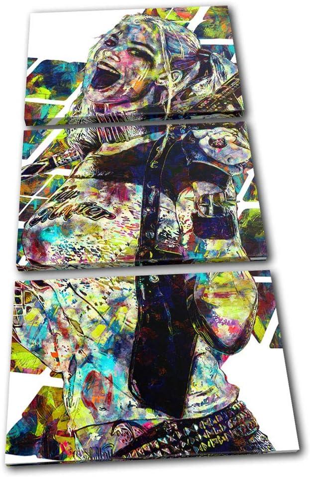 Bold Bloc Design - Harley Quinn Suicide Squad 0 Movie Greats 180x90cm Treble Caja de Lamina de Arte Lienzo Enmarcado Foto del Colgante de Pared Listo para Colgar Canvas Print RC-8846(00B)-TR21-PO-D: Amazon.es: