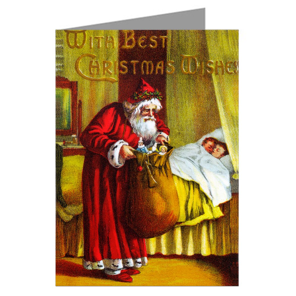 VictorianサンタクリスマスEve Present Delivery , Vintage Holidayグリーティングカードボックスセット B005TDOTBO