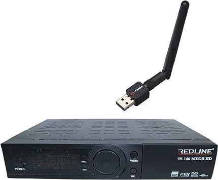 Redline TS 140 Mega HD Plus - Receptor satélite (Full HD, FTA ...
