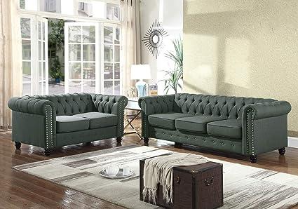 Amazon Com Hollywood Decor Maiac Modern 3 Pieces Living Room Sofa