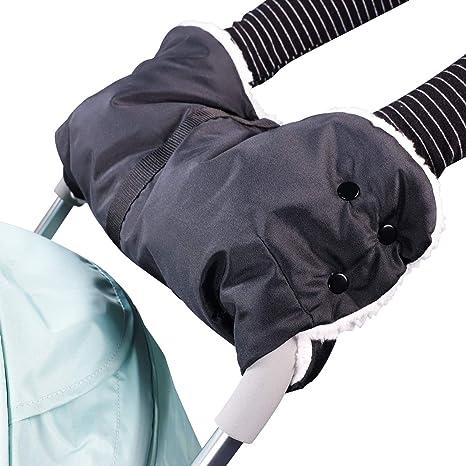 Manoplas guantes de Forro polar impermeable Invierno Protege Manos Guantes Caliente para cochecito carrito silla de beb/é Mture Guantes de Silla de Paseo