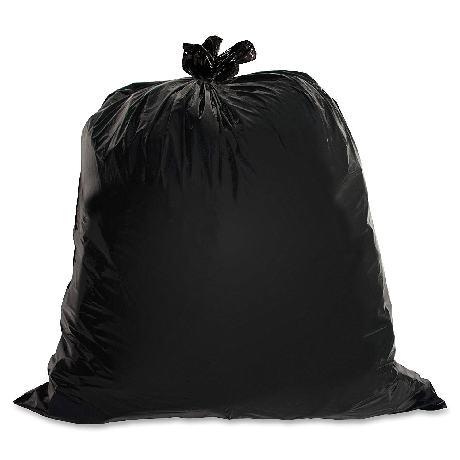 Genuine Joe GJO01534 Heavy Duty Low-Density Puncture Resistant Trash Bag, 45 Gallon Capacity, 46'' Length x 39'' Width x 1.50 mil Thickness, Black (Box of 50) (3 Boxes of 50)