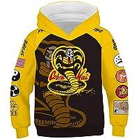 YANGGO Kids Karate Dojo Cosplay Hoodie Costume Pullover Sweatshirt for Halloween