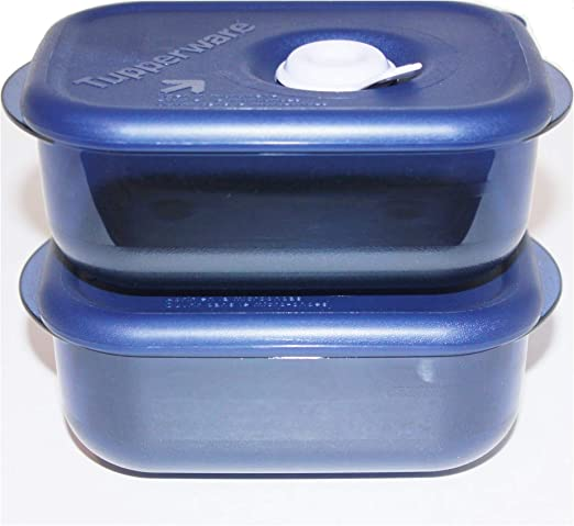 Tupperware Vent N Serve - Juego de 2 recipientes rectangulares ...
