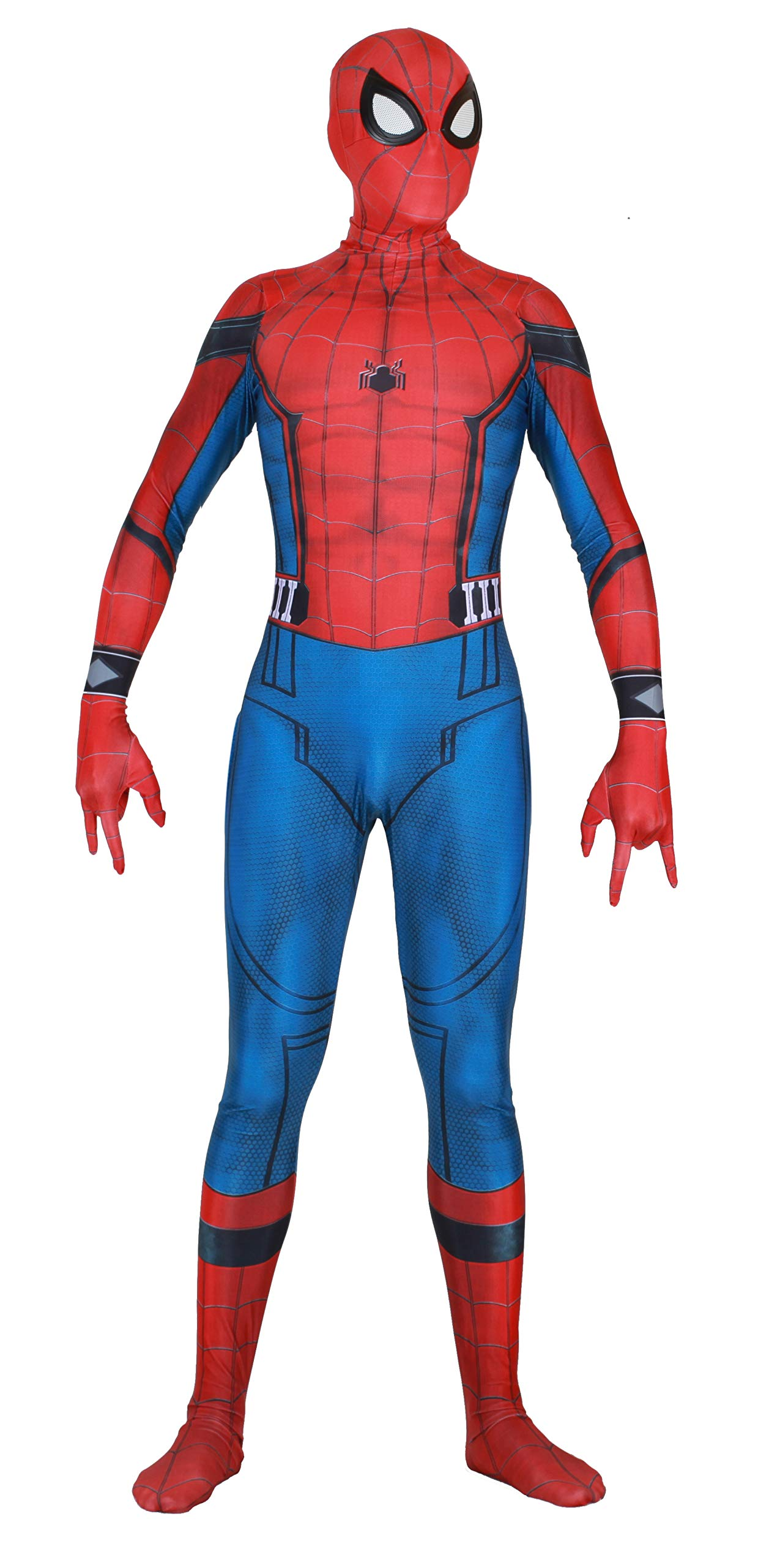 - 715KL4lqUpL - Riekinc Unisex Lycra Spandex Bodysuit Audlt Kids Halloween Cosplay Costume