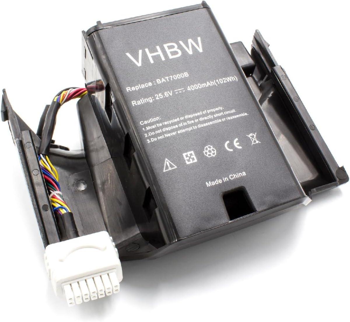 vhbw Li-Ion batería 4000mAh (25.6V) para cortacésped Robot cortacésped Wolf Garten R.S.400, R.S.600