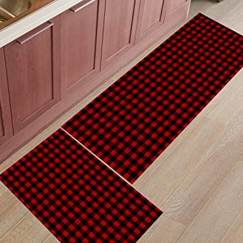Amazon Com Z L Home 2 Pieces Kitchen Rugs And Mats Non Slip Rubber