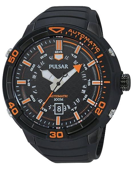 Pulsar Automatic - Reloj automático para hombre, correa de acero inoxidable color negro: Amazon.es: Relojes