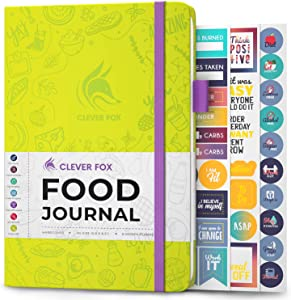 Clever Fox Food Journal - Daily Food Diary, Meal Planner to Track Calorie and Nutrient Intake, Stick to a Healthy Diet & Achieve Weight Loss Goals
