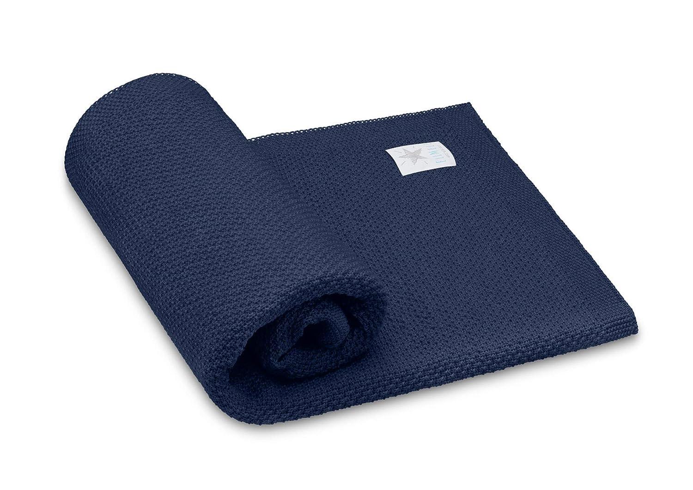 Navy Blue Elimeli Babydecke Wolldecke Kuscheldecke 100/% Merino Schurwolle perfekt f/ür Babys in Geschenkverpackungen