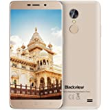"Offerte Cellulari, Blackview A10 Smartphone Dual SIM, Android 7.0, 5,0""HD Quad-Core - 2GB RAM + 16GB ROM, 2.0MP+5.0MP, 2800mAh, Cellulari in Offerta - Oro"