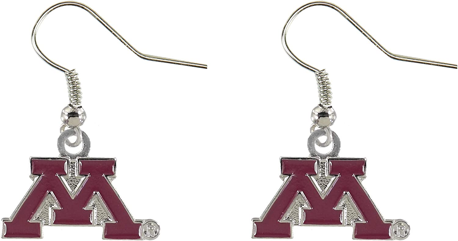 NCAA Minnesota Golden Gophers Logo Dangler Earrings