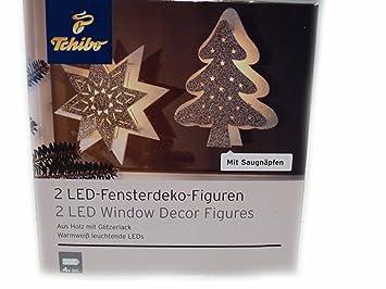 TCM Tchibo 2 LED Fensterdeko Figuren Weihnachten Weihnachtsdeko ...