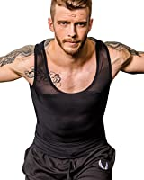 Shaxea Men's Extreme Compression Shirt to Hide Gynecomastia Moobs Slimming Shapewear