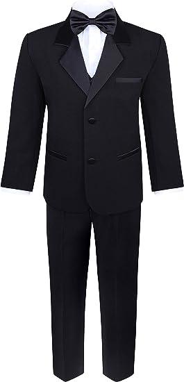 5pc Boy Toddler Kid Teen Wedding Green Teal Blazer Formal Tuxedo Suit Set S-20