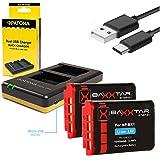 Patona caricatore dual per la Batteria Sony NP-BX1 + 2x Baxxtar PRO Energy batteria (1090mAh) per Sony CyberShot DSC RX100 I II III IV V VI M4 M5 M6 RX1 RX1r H400 HX50 HX50V HX60 HX60V HX80 HX80V HX90 HX90V HX95 HX99 HX300 HX300V HX350 HX400 HX400V WX300 WX350 WX500 -- -- HDR PJ410 PJ240E PJ240 CX405 CX240E CX240 AS15 AS20 AS30 AS50 AS100 AS100VR AS200 AS200V AS200VB GW66VE -- FDR X1000 X1000V X1000VR X3000