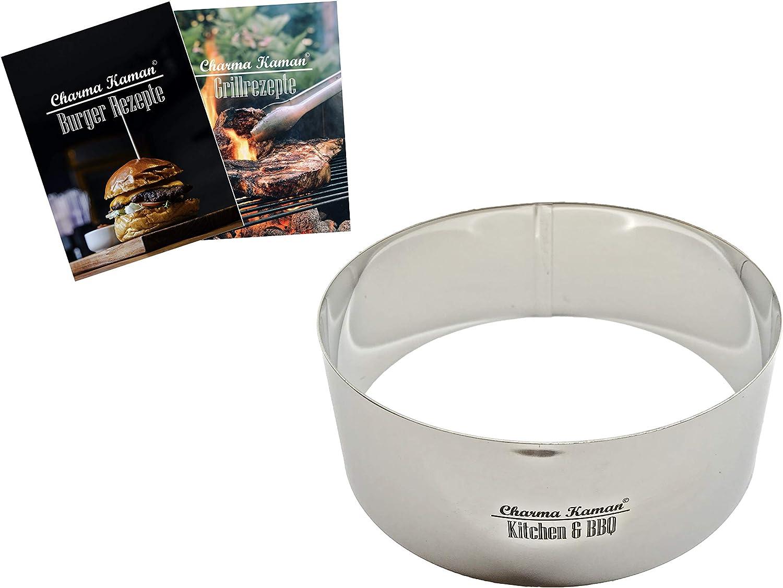L, Metall Charma Kaman Premium Burger Ring//Dessertring 1 St/ück 10cm