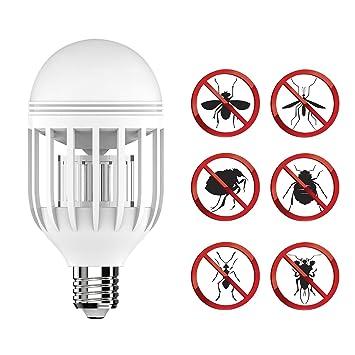 Bug Zapper Light Bulb With LED Light Bulb,Fly Killer, Mosquito Killer, Built