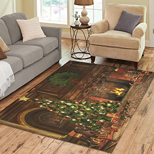 Love Nature Sweet Home Stores Collection Custom Christmas Area Rug 5'3''x4' Indoor Soft Carpet
