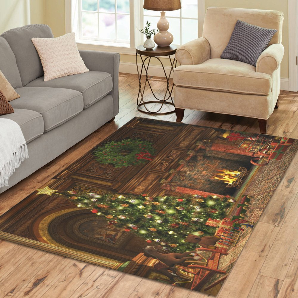 Love Nature Sweet Home Stores Collection Custom Christmas Area Rug 7'x5' Indoor Soft Carpet