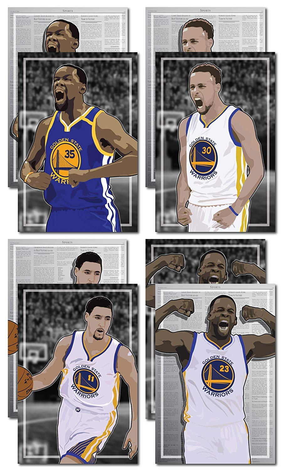 the best attitude 67ae5 9fa31 Oakley Graphics 4 Posters of Golden State Warriors - Kevin Durant, Steph  Curry, Draymond Green, Klay Thompson Art Prints - Buy 1 Get 3 Free, 4 Total  ...