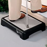 Hyfive Anti Slip Door Step Mobility Disability Elderly Walking Aid Outdoor Step Platform, Half Step for Disabled/Elderly