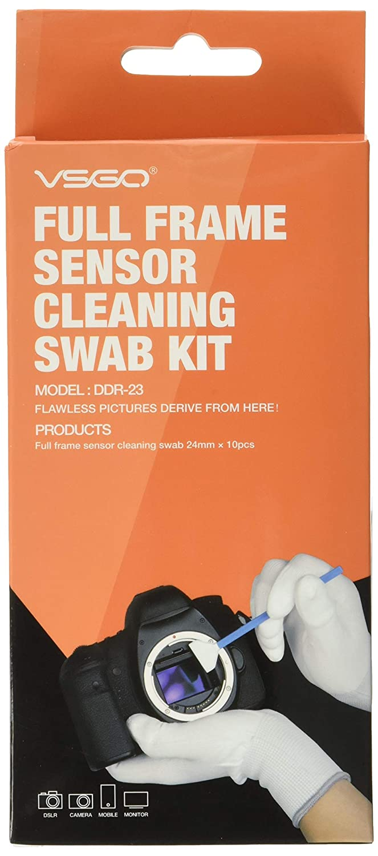 vsgo Sensor DSLR SLR Cámara de fotograma completo de limpieza Swab ...