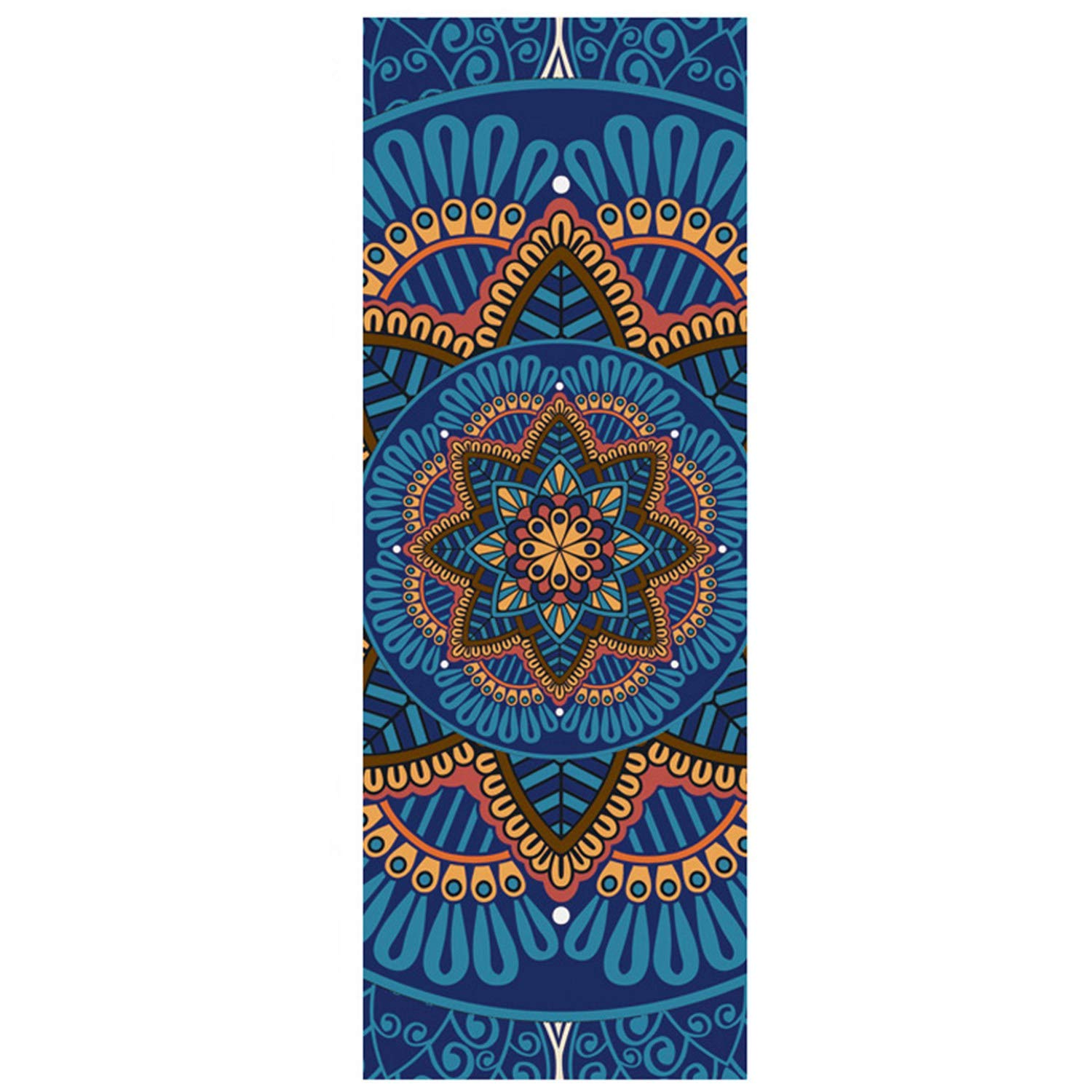 Amazon.com : SODIAL 5 Mm Lotus Pattern Suede TPE Yoga Mat ...
