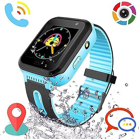 Reloj Inteligente para niños Rastreador de GPS a Prueba de Agua - Reloj Infantil Reloj Digital