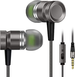Earbuds for Apple 6 iPhone 6s, Rythsans 3.5mm Jack Durable Earbuds + 5 Years Warranty in Ear Earbuds with Microphone for iPhone 6/6s/6s plus/5/se, iPod, ps4, Android Phone (Grey)
