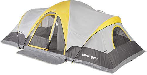 Tahoe Gear Manitoba 14-Person 20 x 17 Family Outdoor Camping Tent with Rainfly