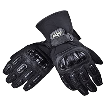 Motorrad Handschuhe Schwarz Touch Screen harter Knochel Winter Warme L