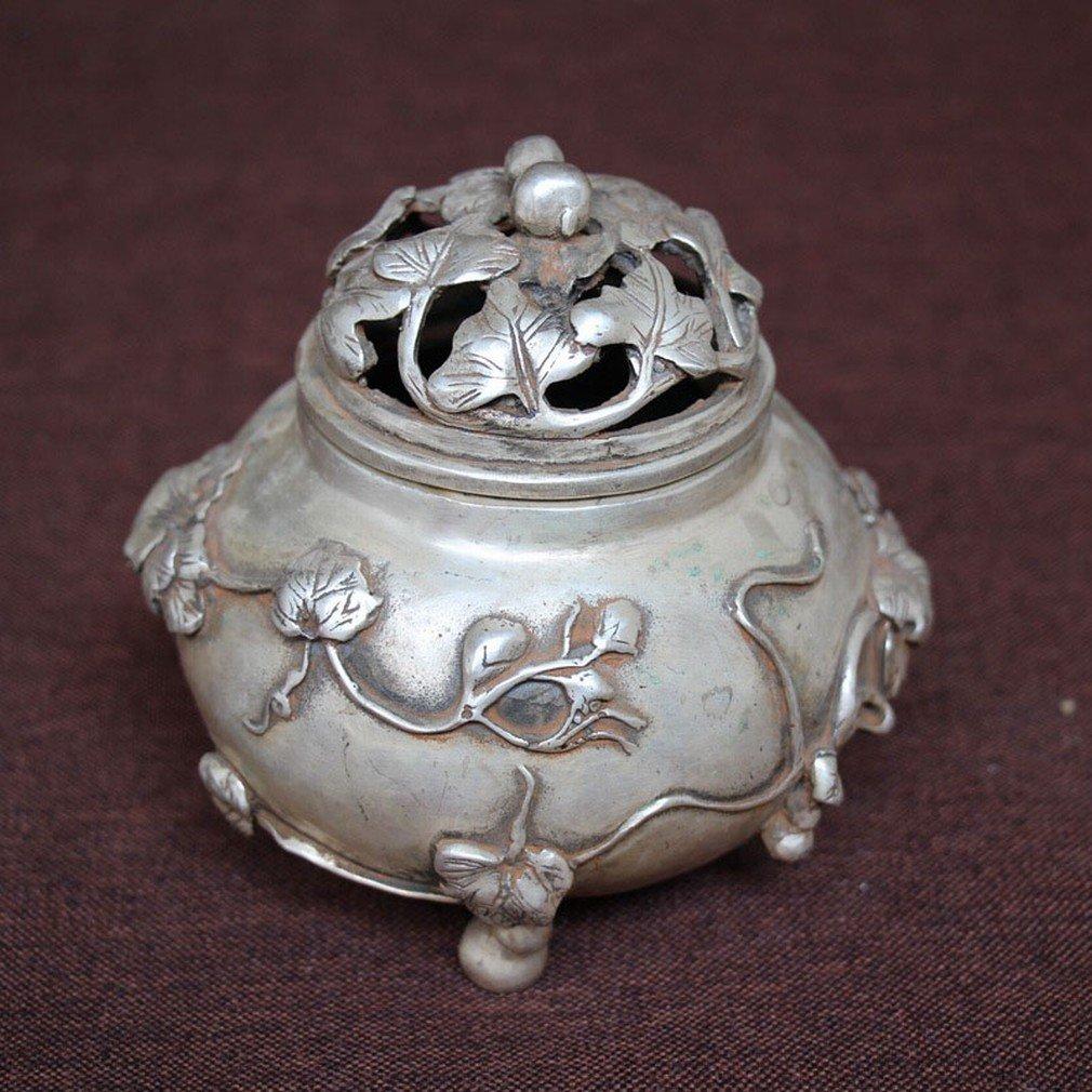 Antique Antiquités Collection Artisanat en Métal Ornements Micro Paysage Accessoires Pour la Maison Argent Blanc
