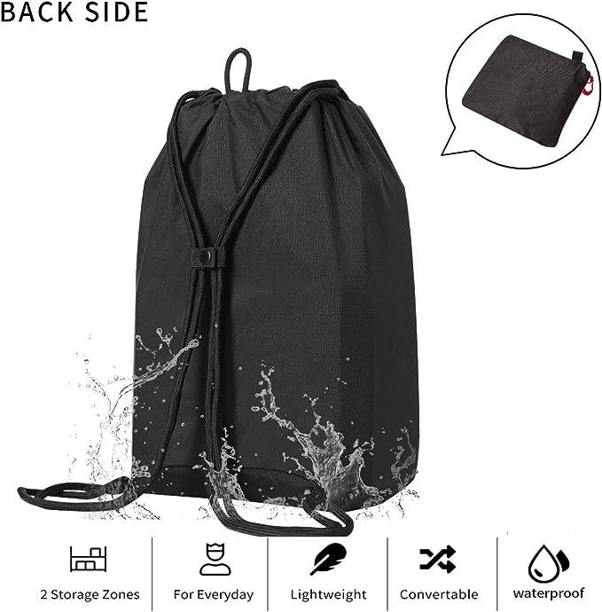 African White Lion Drawstring Backpack Summer Sport Bag For Men Women Beach Outdoor Travel Cinch Sack