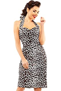 bacb125ff3898 New Ladies Retro 1940's Vintage Halter Neck Party Wiggle Dress Size ...