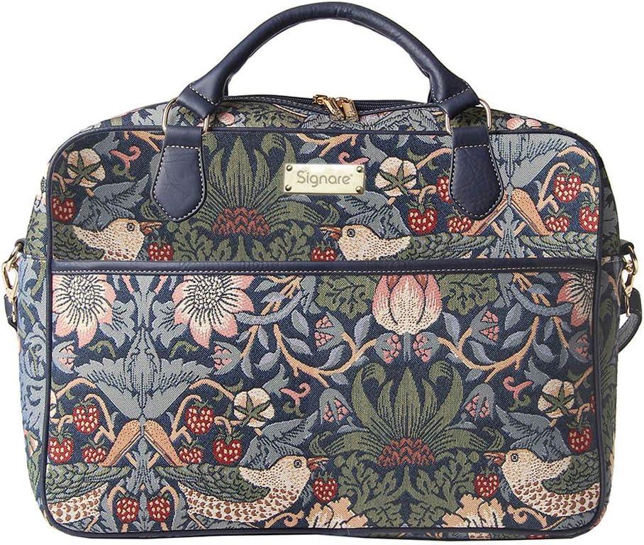 Erdbeerdieb Rot Notebook Tasche 15.6 Zoll Business Taschen Damen mit William Morris Designs Signare Gobelin Laptop Tasche Laptoptasche 15.6 Zoll
