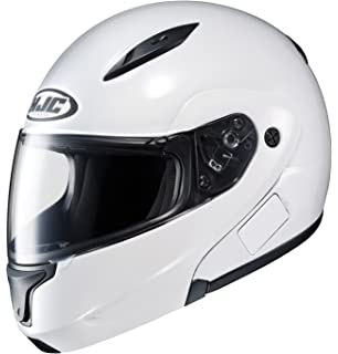 HJC 972-143 CL-MAXBT II Bluetooth Modular Motorcycle Helmet (White, Medium