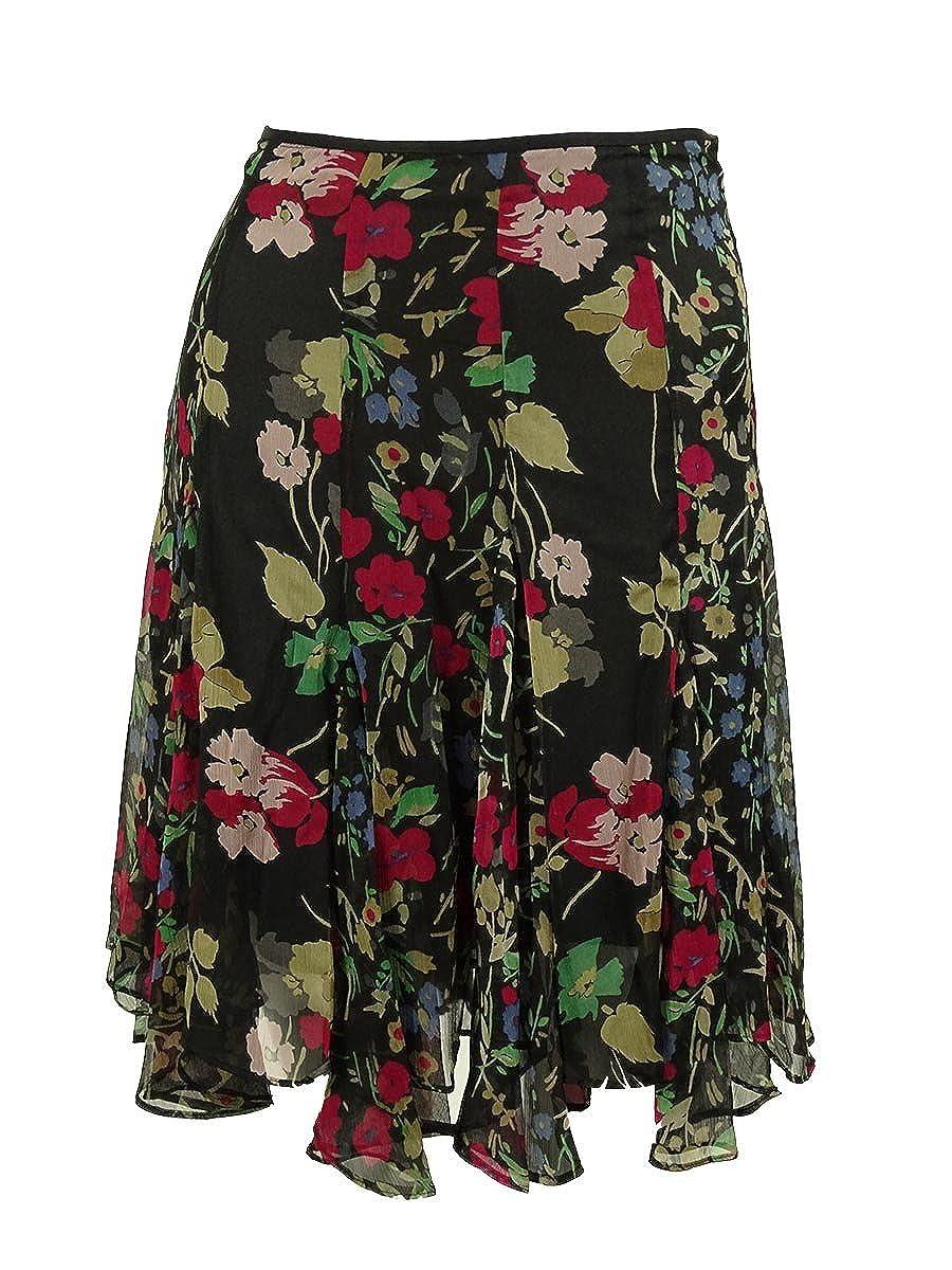 Lauren Ralph Lauren Womens Plus Ruffled Floral Print A-Line Skirt
