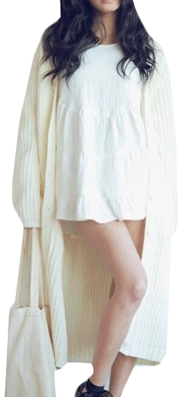 Generic Women's Classic Open Front Long Sleeve Knit Cardigan
