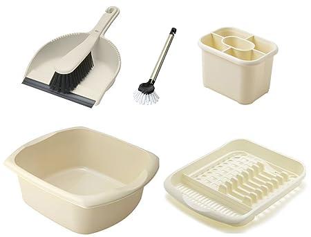addis washing up and cleaning set dish drainer washing up bowl rh roseforlove com Food Brush Dish Scrubber