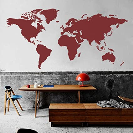 Amazon.com: MairGwall World Map Wall Decal The Whole World Wall ...
